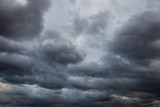 Natural background: dark stormy sky - 240796654