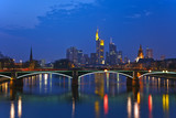 View on Frankfurt am Main at dusk, Germany - 240806214