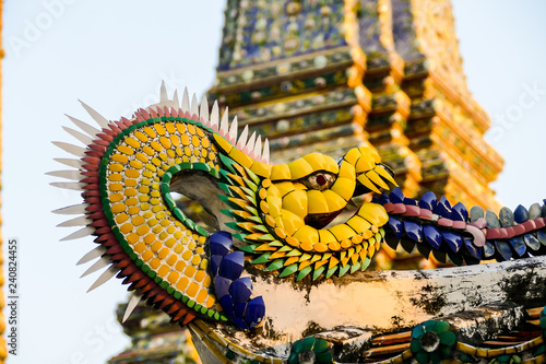 Beautiful photo of Wat Pho Temple, Bangkok City taken in thailand - 240824455