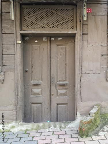 Old doors in istanbul Balat, Turkey