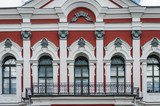 Close up of Jelgava Palace is the largest Baroque-style palace in the Baltic states. Built in the 18th century by Rastrelli. Jelgava, Latvia. - 240862850