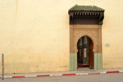 Entrance door of the Bab Bou Jeloud Mosque | Fez, Morocco