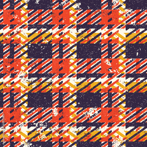 Grunge tartan plaid abstract vector seamless pattern  © PrintingSociety