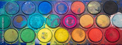 Farbskala - Wasserfarben zum malen