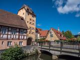 Water gate of Hersbruck in franc - 240900878