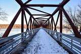 vintage railroad bridge hiking trail
