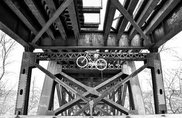 street art along urban bike trail