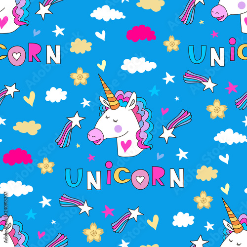 obraz PCV Unicorn pattern17