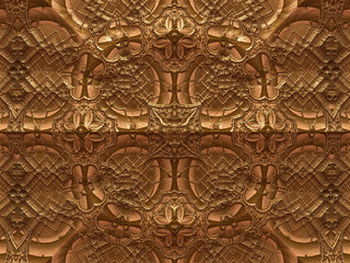 Abstract fractal pattern with embossed elements