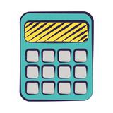 calculator supply on white background - 240932023