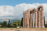 The Temple of Olympian Zeus or the Olympieion is a monument of Greece and a former colossal temple in the centre of the Greek capital city Athens. - 240942008