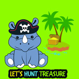 let's hunt treasure with rino
