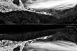 Quadro Riflesso sul fiume, Alpi, Italia