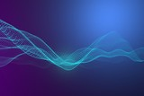 Soft technology background. Network with glowing lines - 240967215