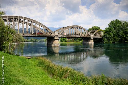 paesaggio sul fiume Adda - parco Adda nord - 240978039