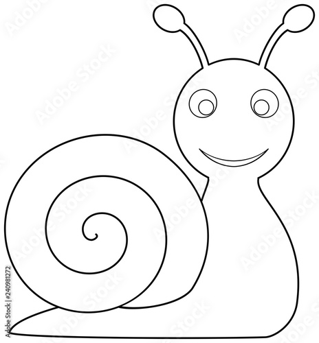 Snail Coloring Page Outline Vector Illustration Buy Photos Ap