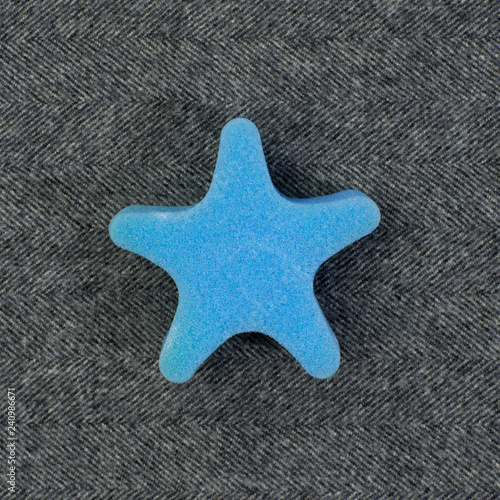 foam toy on fabric background - 240986671
