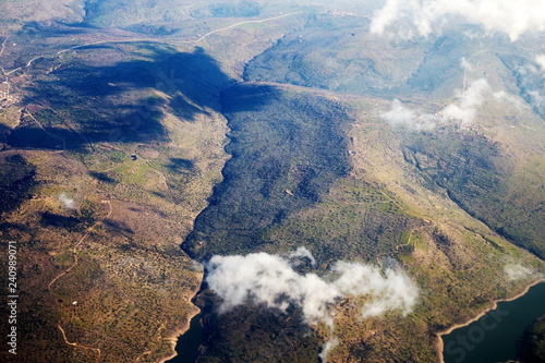 aerial view of mountains - 240989071