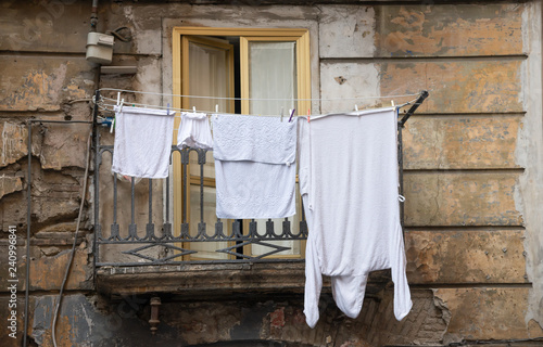 typical old neapolitan balcony - 240996841