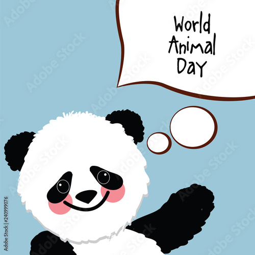 abstract illustration of a cute baby panda. Congratulations on the holiday