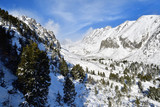 snowy scenery of peak mountains and forests in the winter  High Tatras Slovakia