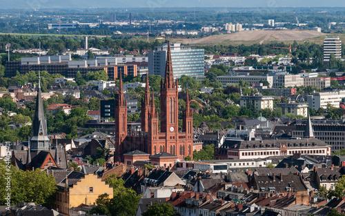 canvas print picture Blick auf Wiesbaden vom Neroberg; Deutschland