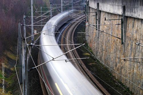 ICE-Trasse bei Montabaur - Stockfoto