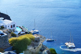 Beautiful view with luxury apartments in Santorini, Cyclades