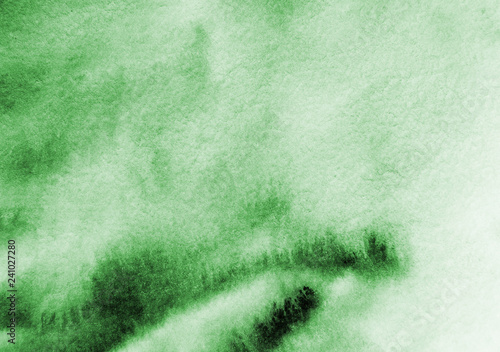 Green abstract background in watercolor