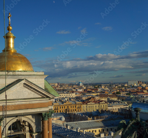 View of St. Petersburg from the colonnade of St. Isaac's Cathedral.