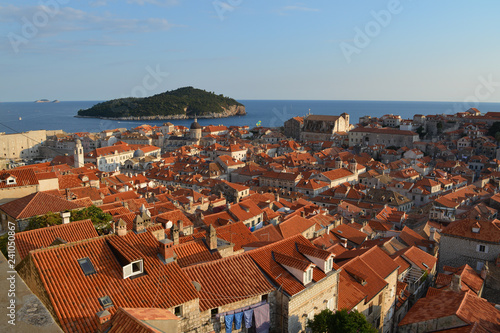 view of the city of dubrovnik croatia