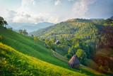 Fototapeta Na ścianę - The hil seen from the road on Moeciu, Romania © Razvan