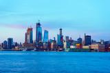 Midtown Manhattan ,New York City Skyline at Sunset from Hoboken, New Jersey, across the Hudson River.  - 241088484