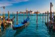 Leinwanddruck Bild - Gondolas in Venice