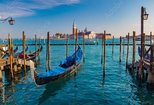 Leinwanddruck Bild Gondolas in Venice