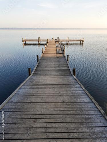 Acrylglas Pier Jezioro. Steinhunder Meer. Wunstorf, Niemcy.