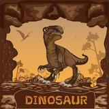Fototapeta Dinusie - Dinosaur illustration Vector Concept © Space-Vector