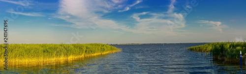 Leinwanddruck Bild Panorama National Park Vorpommersche Boddenlandscape