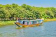 15K tourists on the Perrfume River near Hue, Vietnam