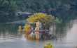 Island in the Perfume River at Hue Vietnam