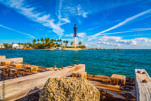 Lighthouse and Waterway near Fort Lauderdale, Florida, USA