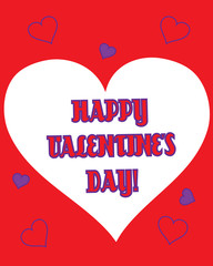 Valentine-Happy Valentine's Purple Hearts