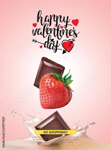발렌타인데이 사랑 고백 데이트 초콜렛 벡터 백그라운드 배너 일러스트