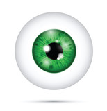 green realistic eyeball