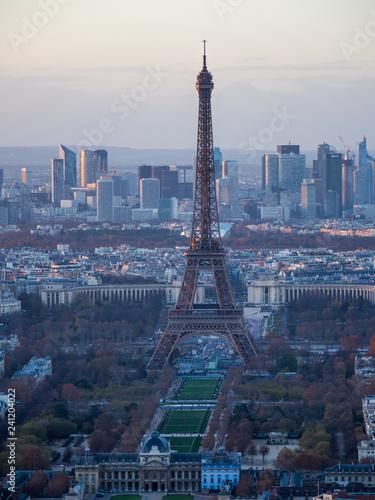 obraz lub plakat Paris skyline in the evening