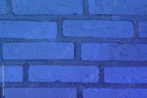 creative shabby blue brick wall texture for use as background. - 241207823