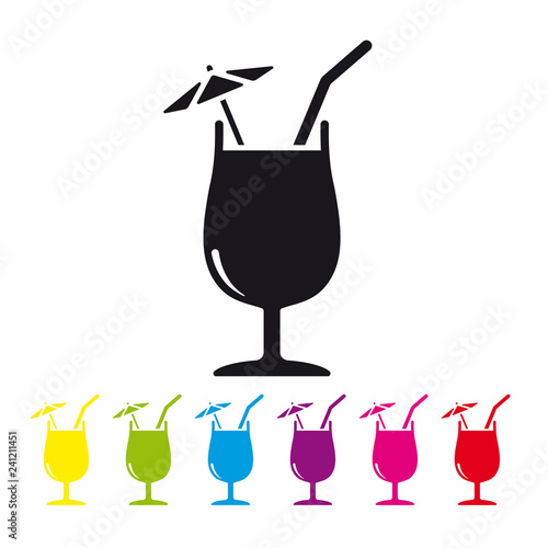 Tropical Cocktail vector icon