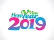 abstract artistic creative pink new year text