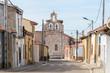 Leinwanddruck Bild - typical spanish town at castile