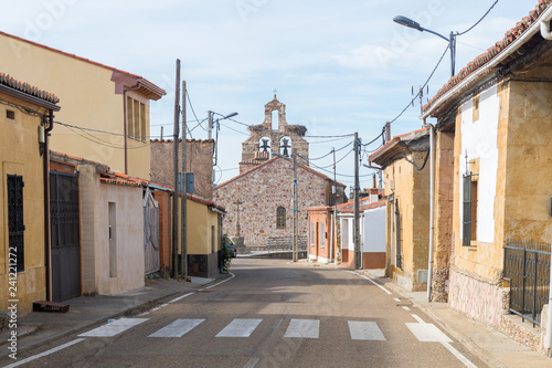 typical spanish town at castile